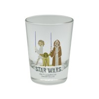 Star Wars Mini Glass Tumbler Luke & Yoda & Obi Wan