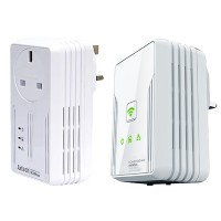 Aztech HL115EP + HL117EW Homeplug Ethernet Adapter