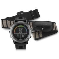 Garmin Fenix 3 GPS + Heart Rate Monitor Sport Watch Bundle (Grey)