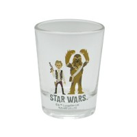 Star Wars Mini Glass Tumbler Han Solo & Chewbacca