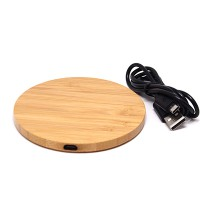 PRS 916 Wireless Charger Wooden (Round)