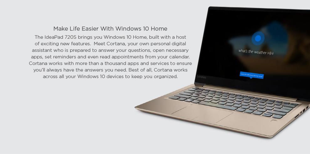 Lenovo IdeaPad 720S [Gold] [Intel i7, 8GB RAM, 256GB SSD, NVIDIA GEFORCE  MX150 2G DDR5 Graphics] [Demo Set]