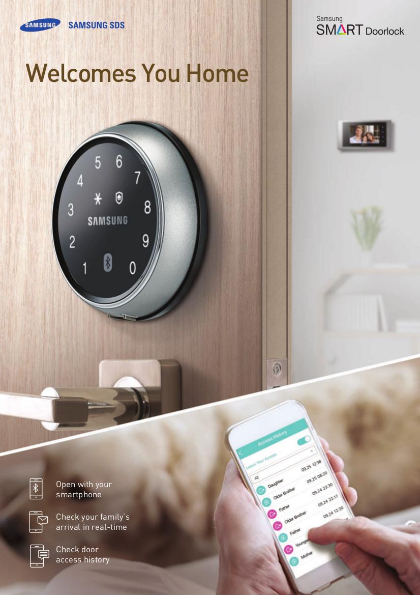 Samsung Door Lock SHP-DS705 + Installation Metal Gate