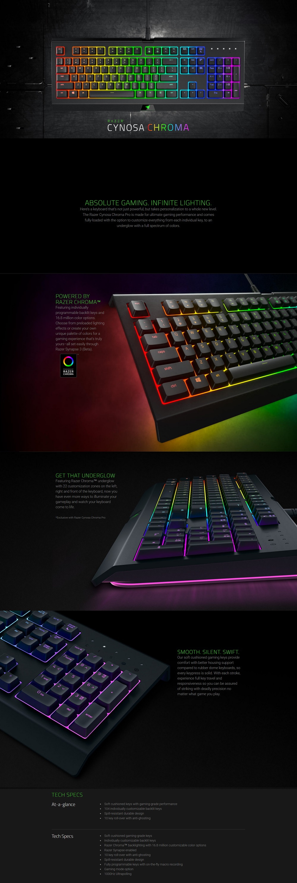 Razer Cynosa Chroma Multicolor Membrance Gaming Keyboard