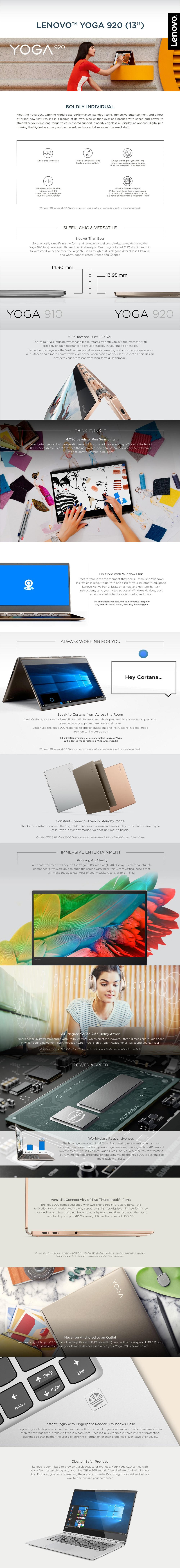 Lenovo YOGA 920 [Platinum] [Intel i7, 8GB RAM, 512GB SSD]